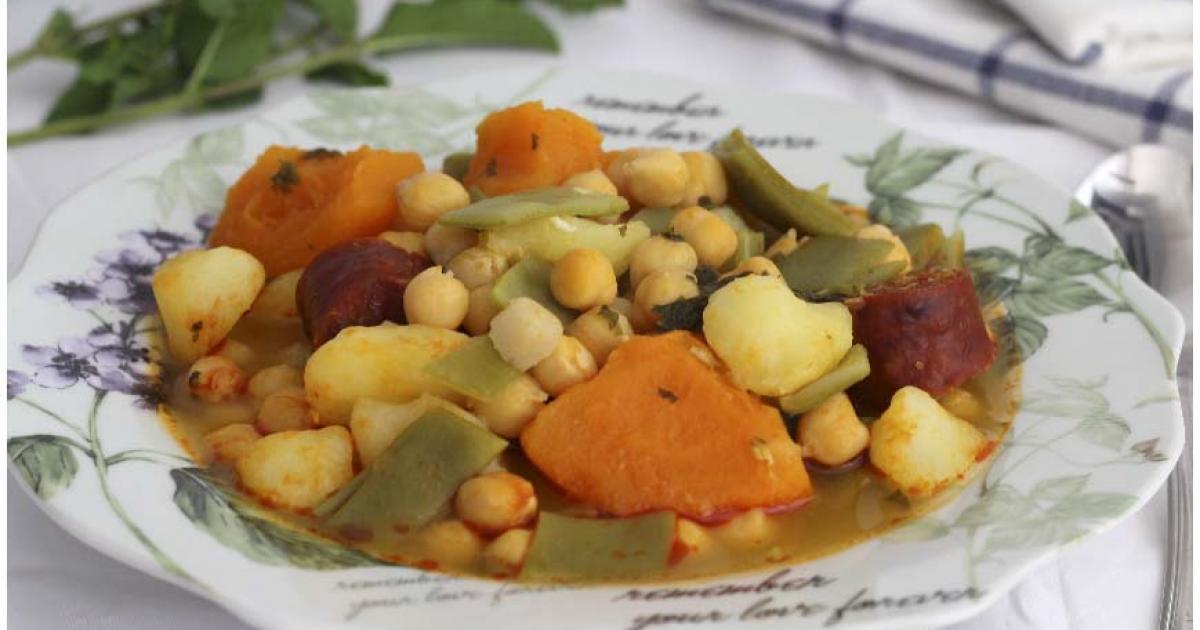 Cocido de garbanzos de bote con calabaza recetas f ciles for Cocinar alcachofas de bote