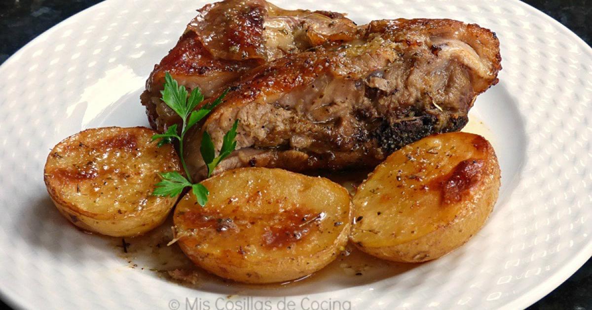 Paletilla de cordero asada a la miel recetas f ciles for Cocinar paletilla de cordero