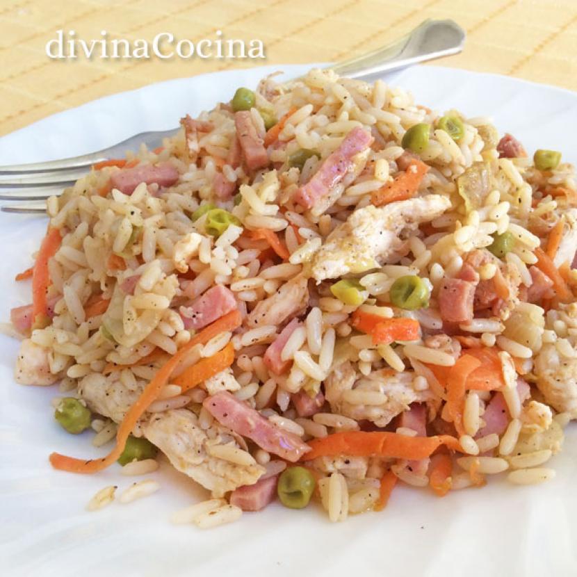 arroz chino con pollo receta de divina cocina - Divina Cocina