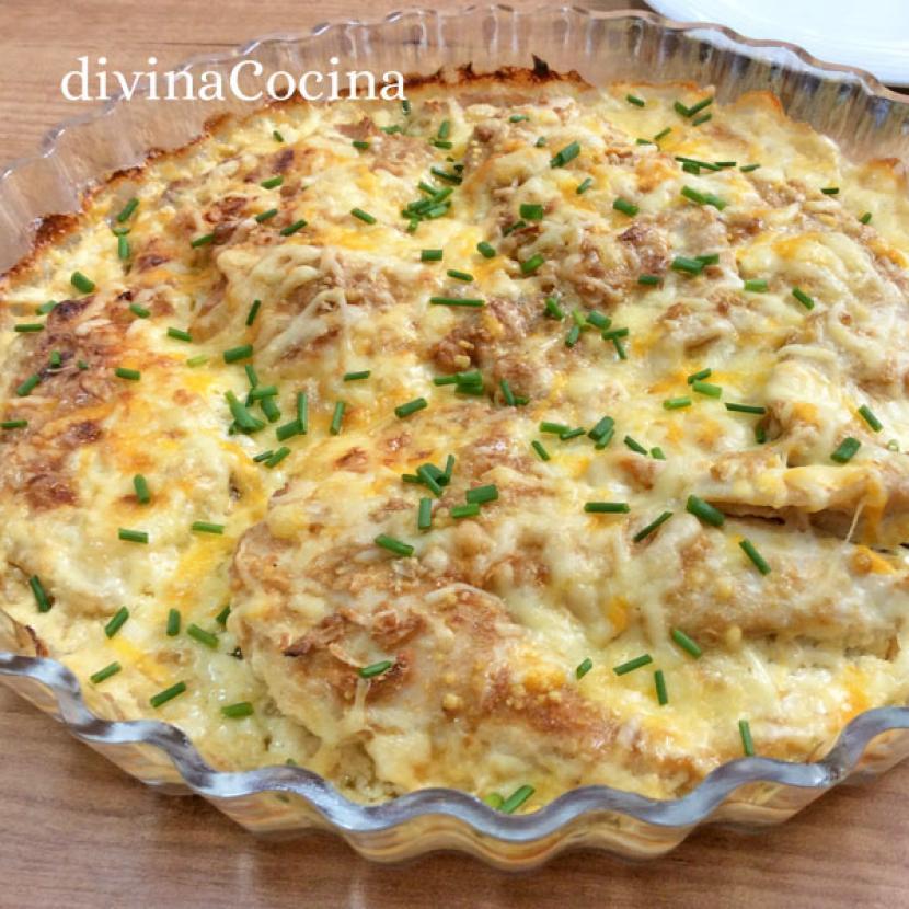 pechugas de pollo gratinadas receta de divina cocina