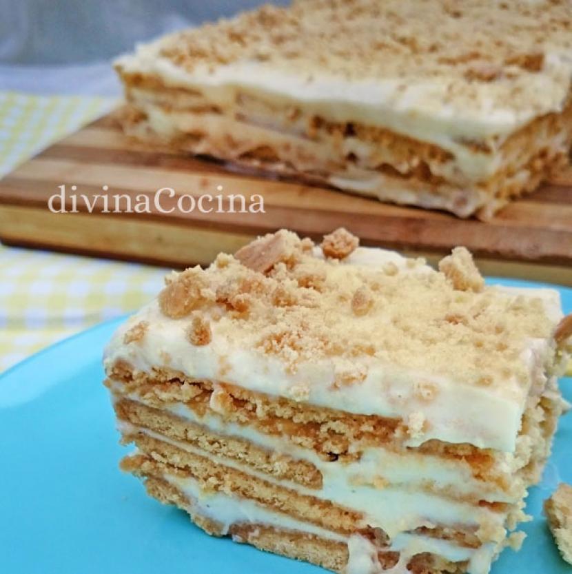 tarta de galletas y limn receta de divina cocina - Cocina Divina